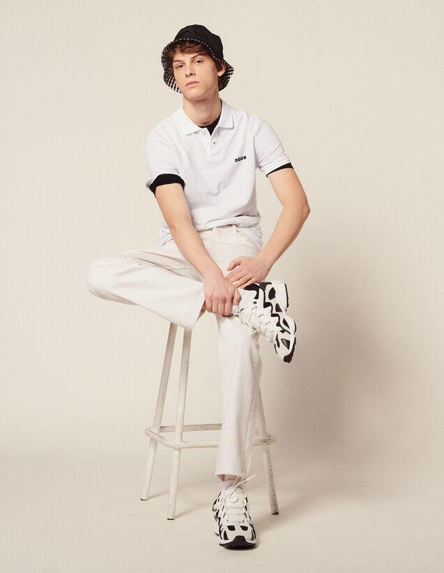 Poloshirt Aus Baumwoll-Piqué : HAnciennesCollections farbe Weiß