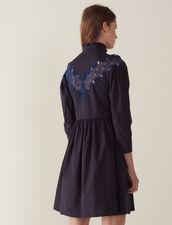 Kurzes Kleid Mit Spitzeneinsatz : null farbe Marine