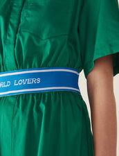 Kleid Aus Baumwollsatin : null farbe Grün