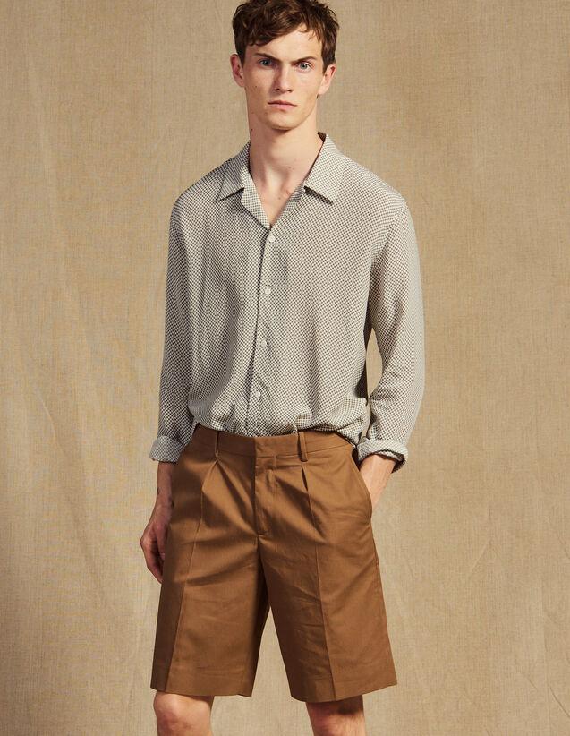 Bermudashorts Mit Abnäher : Hosen & Shorts farbe Taupe
