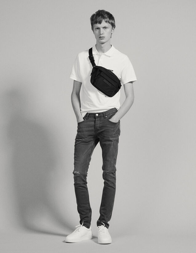 Destroy-Jeans – Passform: Skinny : Jeans farbe Grau