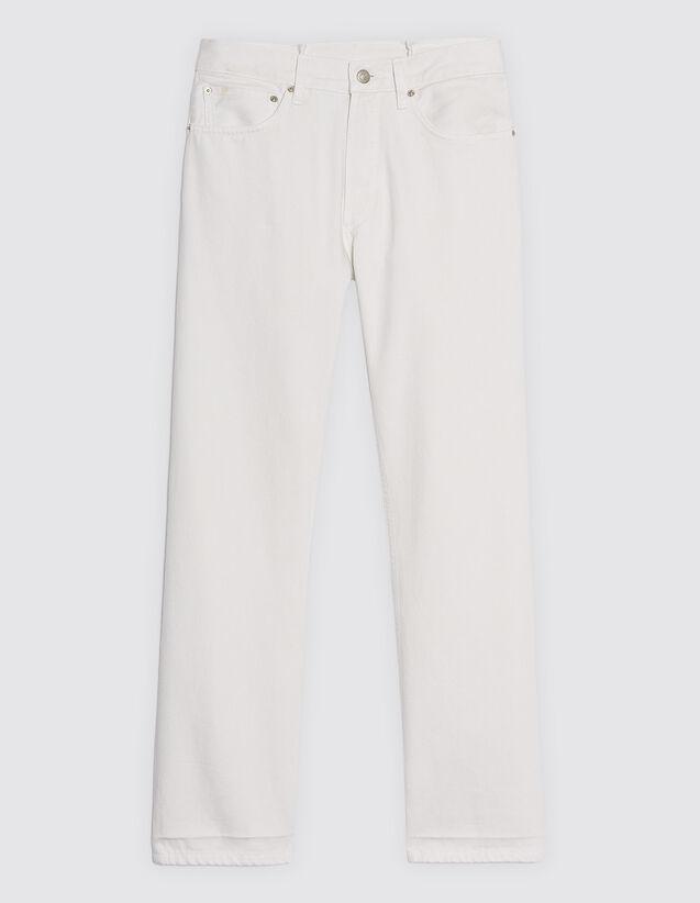 Weiße Jeans Mit Geradem Schnitt : Jeans farbe Weiß