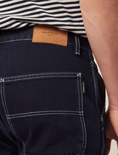 Denim-Hose Mit Ziernähten : Sommer Kollektion farbe Blue Night - Denim