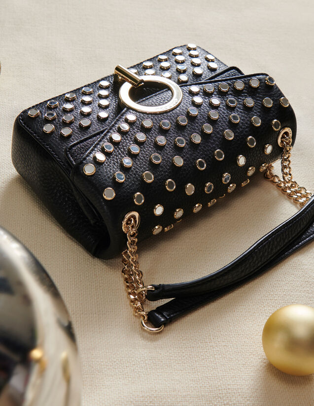 Yza Tasche, kleines Modell, mit Nieten : Taschen farbe Schwarz