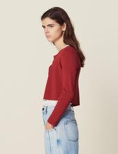 Kurzer Strick-Cardigan : Pullover & Cardigans farbe Terrakotta