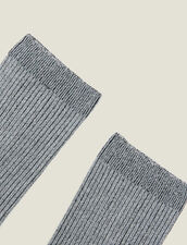 Lurex-Strümpfe : Socken farbe Silber