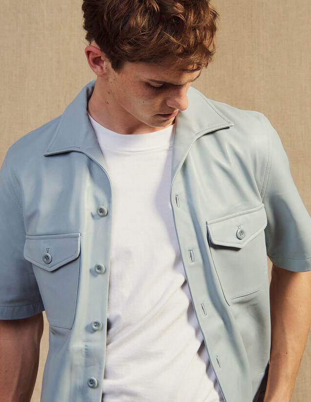 Kurzärmeliges Hemd Aus Lammleder : Hemden farbe Sky Blue