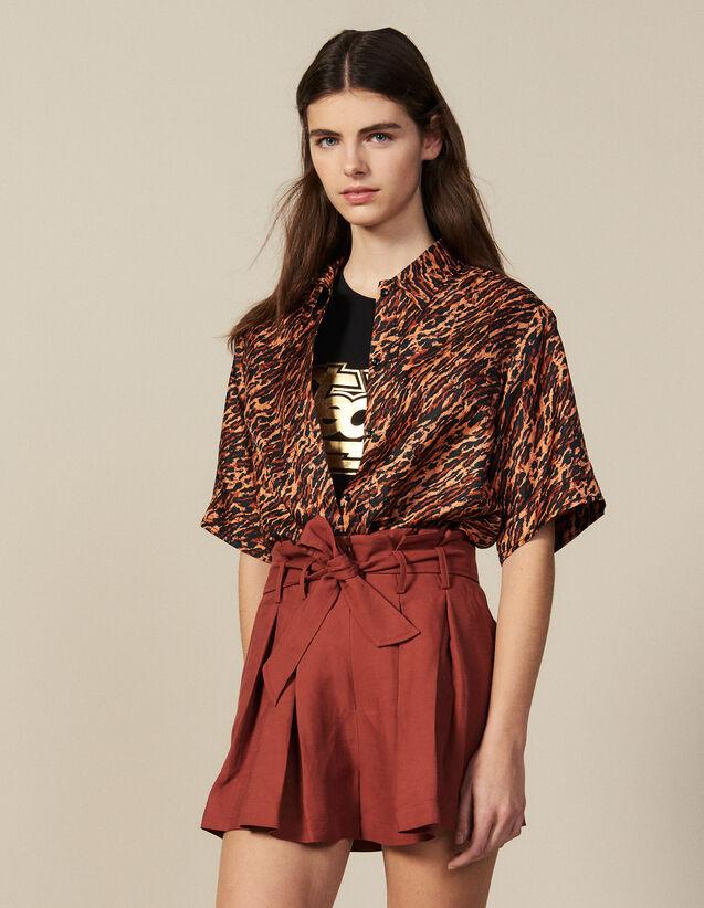 Plissierte Shorts Mit Bindegürtel : Alle Konfektionskleidung farbe Wine
