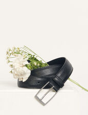 Gürtel aus Saffiano-Leder : Gürtel farbe Schwarz