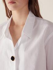 Baumwoll-Hemdbluse Mit Schmuckknopf : null farbe Weiß