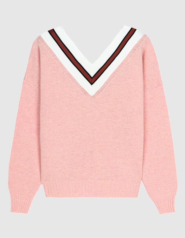 Pullover Mit Kontraststreifen : Pullover & Cardigans farbe Rosa