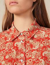 Hemdbluse aus bedruckter Seide : FBlackFriday-FR-FSelection-30 farbe Rot