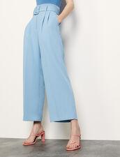 Weite Hose mit Gürtel : Hosen farbe Ciel