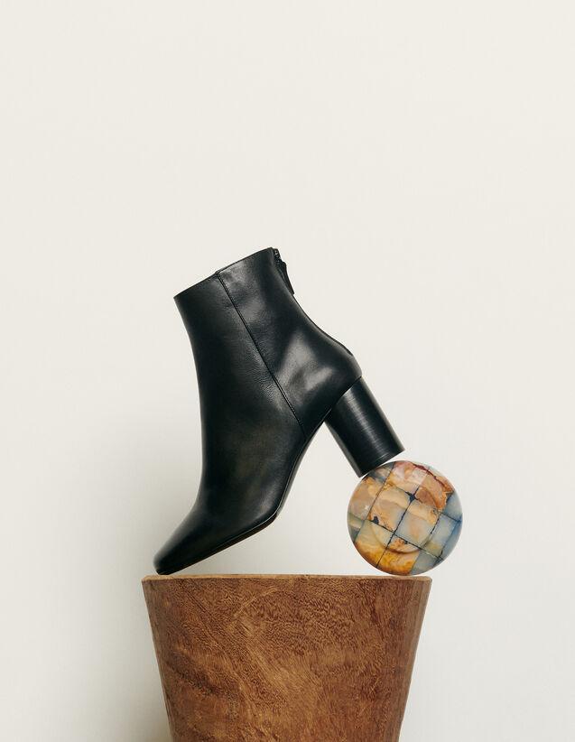 Lederstiefeletten : Schuhe farbe Schwarz