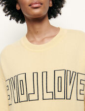Message-Pullover aus Wolle und Kaschmir : Pullover & Cardigans farbe Gelb