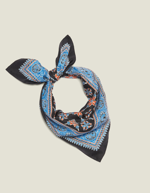 Bedruckter Seidenschal : Scarves farbe Blau