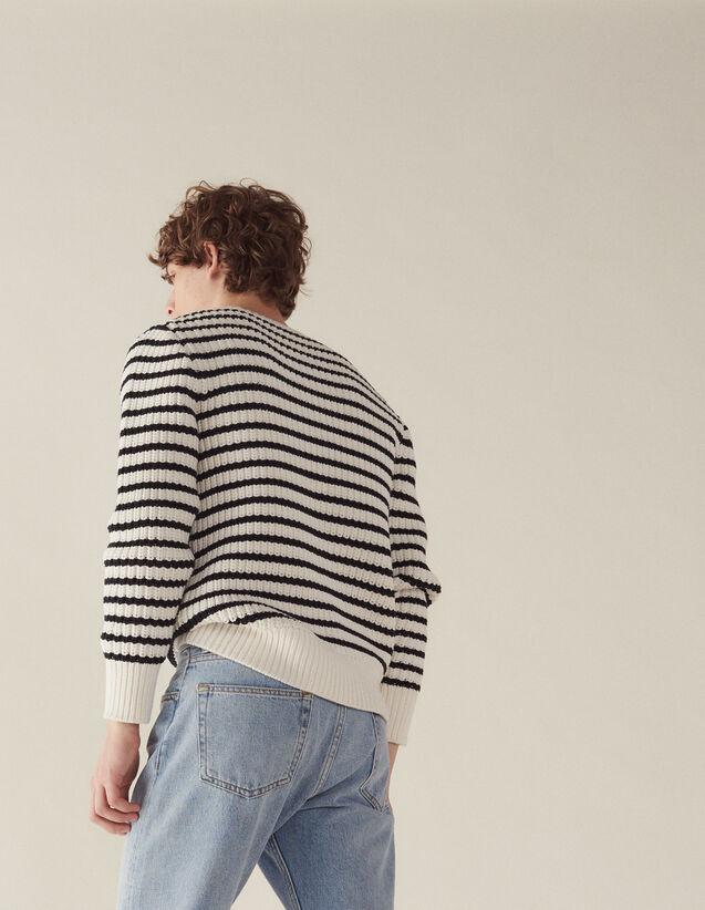 Matrosen-Pullover Mit Schicken Rippungen : Pullovers & Cardigans farbe Ecru