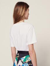 T-Shirt Mit Aufgesticktem Schriftzug : T-shirts farbe Weiß