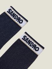 Lurex-Strümpfe Mit Sandro Logo : LastChance-CH-FSelection-Pap&Access farbe Marine