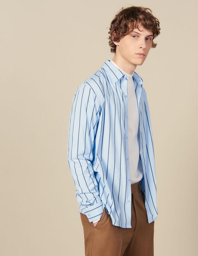 Gestreiftes Hemd : Winterkollektion farbe BLEU / NOIR