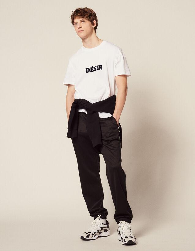 T-Shirt Aus Baumwolle Mit Schriftzug : T-Shirts & Polos farbe Weiß