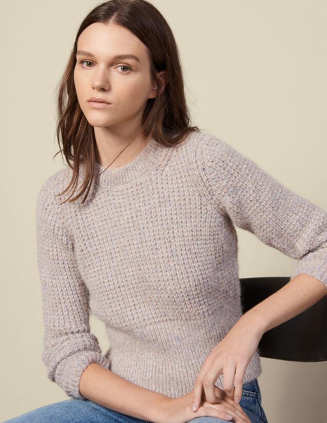Rundhalspullover Mit Perlstrickeffekt : Pullover & Cardigans farbe Grau