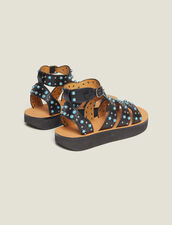 Sandalen Mit Keilabsatz Und Perlendetail : null farbe Schwarz
