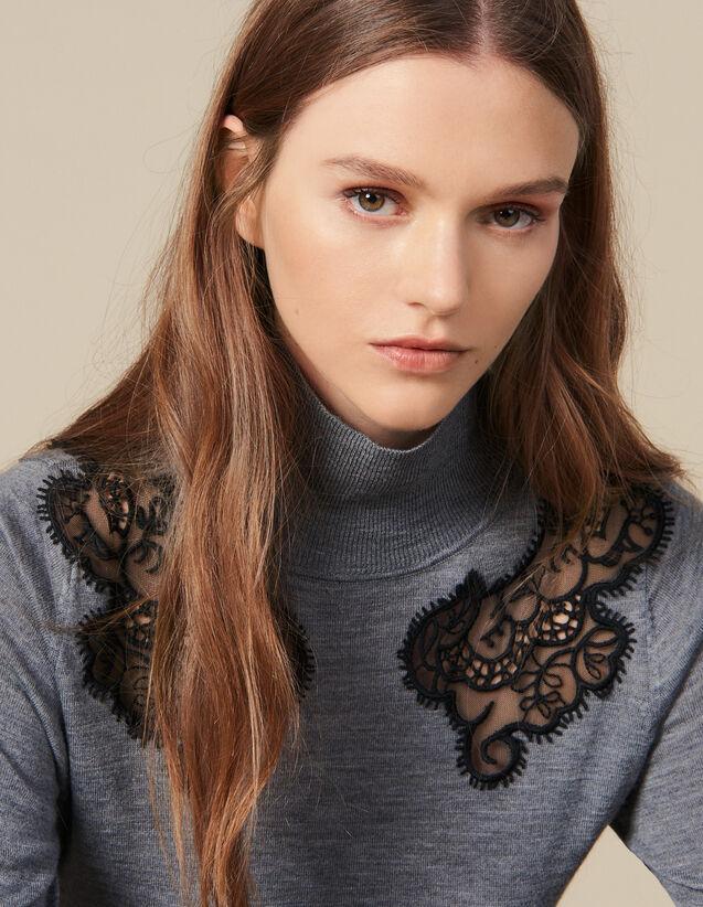 Pullover Mit Stehkragen : LastChance-ES-F20 farbe Grau