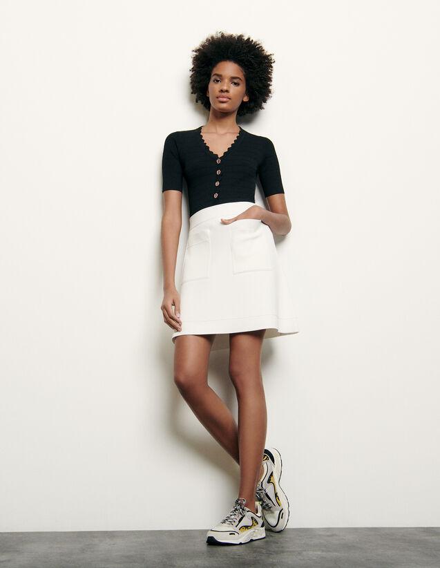 Kurzer Strickrock : Röcke & Shorts farbe Weiß