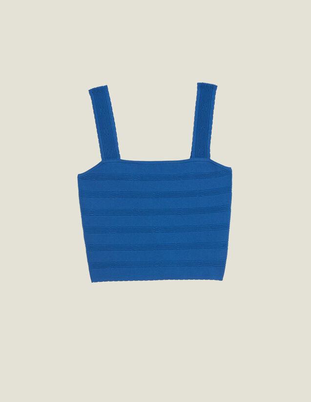 Kurzes Stricktop : Tops & Hemden farbe Bleu jean
