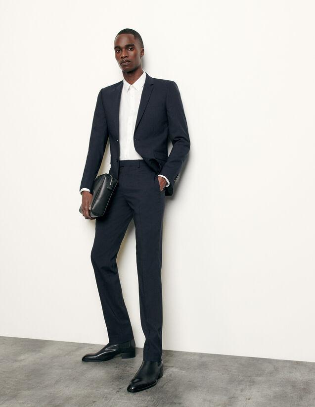 Klassische Anzughose aus Wolle : Anzüge & Smokings farbe Marine