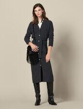Westenkleid aus Rippstrick : Kleider farbe Grau