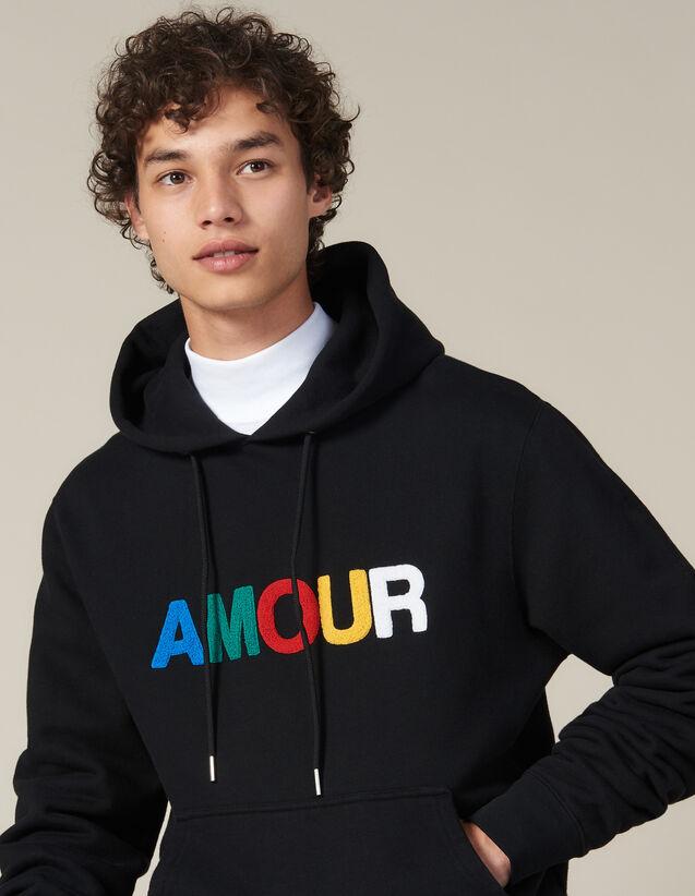 Hoodie Mit Amour-Patch : Sweatshirts farbe Schwarz