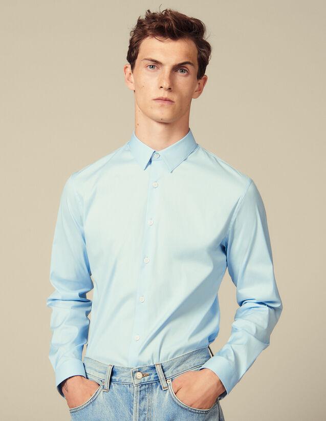 Klassisches Hemd In Slim-Schnitt : Hemden farbe Sky Blue