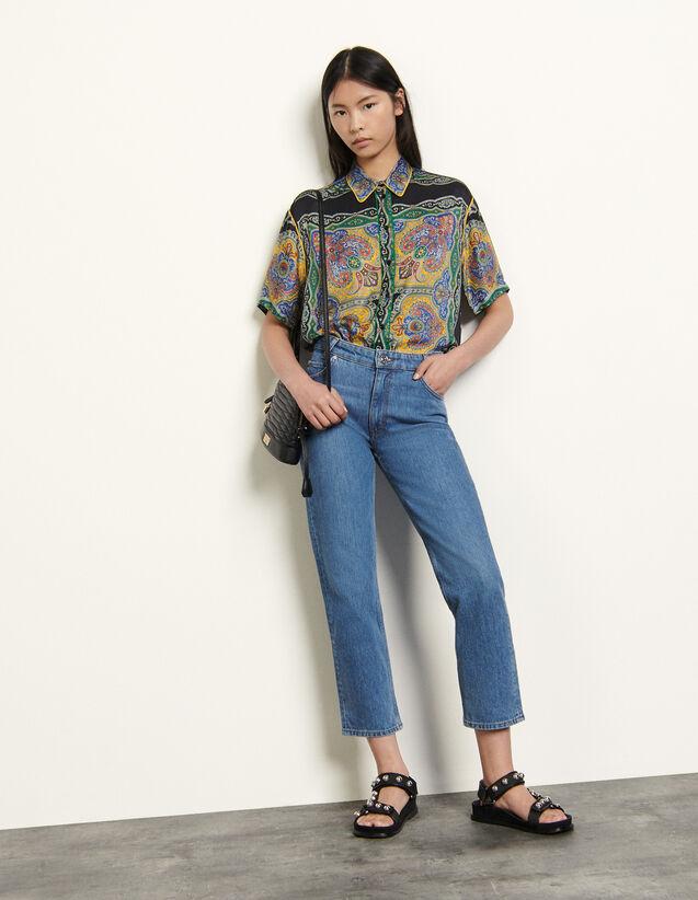 Stretch-Jeans mit fünf Taschen : Jeans farbe Bleu jean