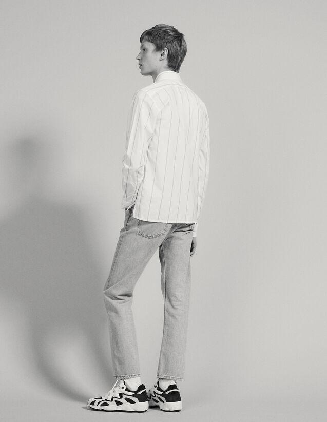Hemd Aus Baumwolle Mit Doppelstreifen : Hemden farbe Weiß