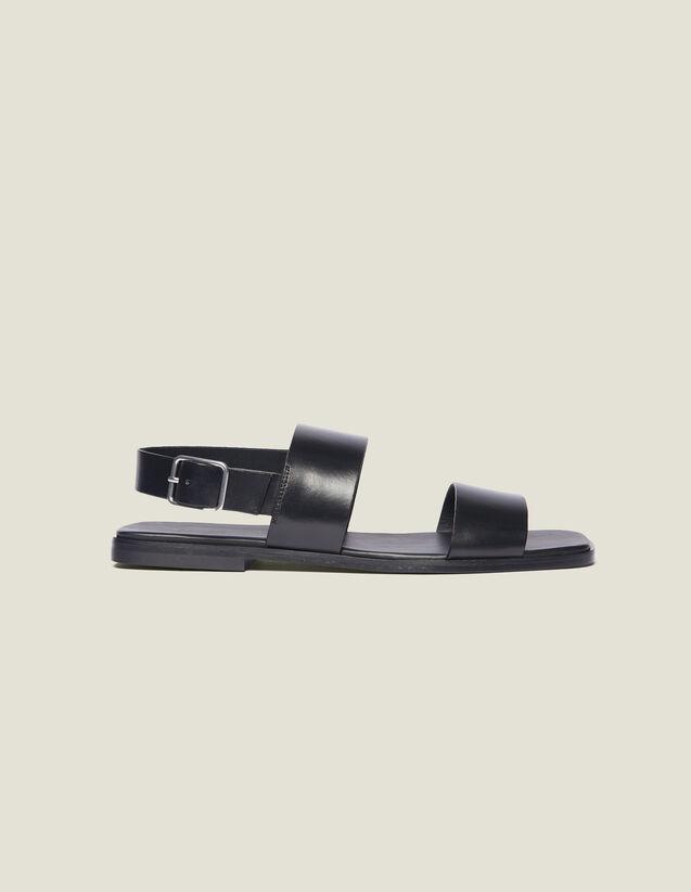 Ledersandalen : Schuhe farbe Schwarz