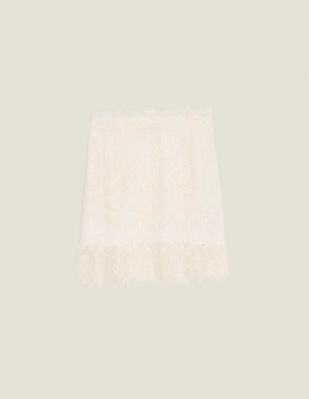 Kurzer Spitzenrock : null farbe Nude