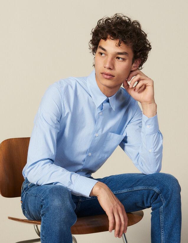 Hemd Mit Streifen Und Brusttasche : Neue Kollektion farbe Blau/Weiß