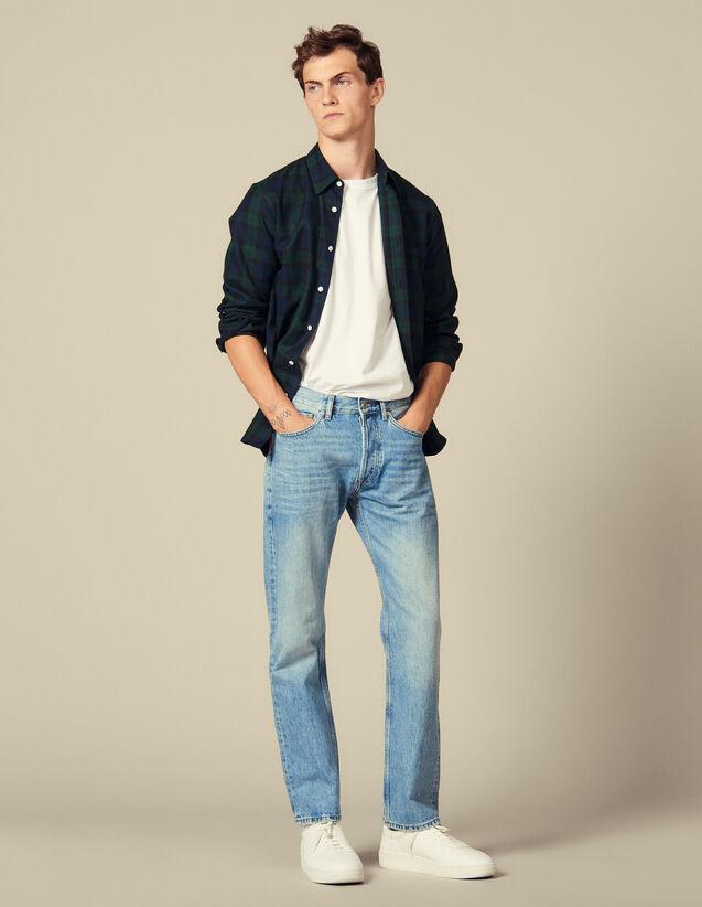 Verwaschene Jeans : Jeans farbe Blue Vintage - Denim