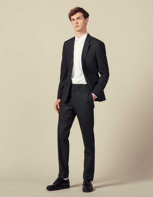 Anzughose mit Ziernaht : Anzüge & Smokings farbe Anthrazit