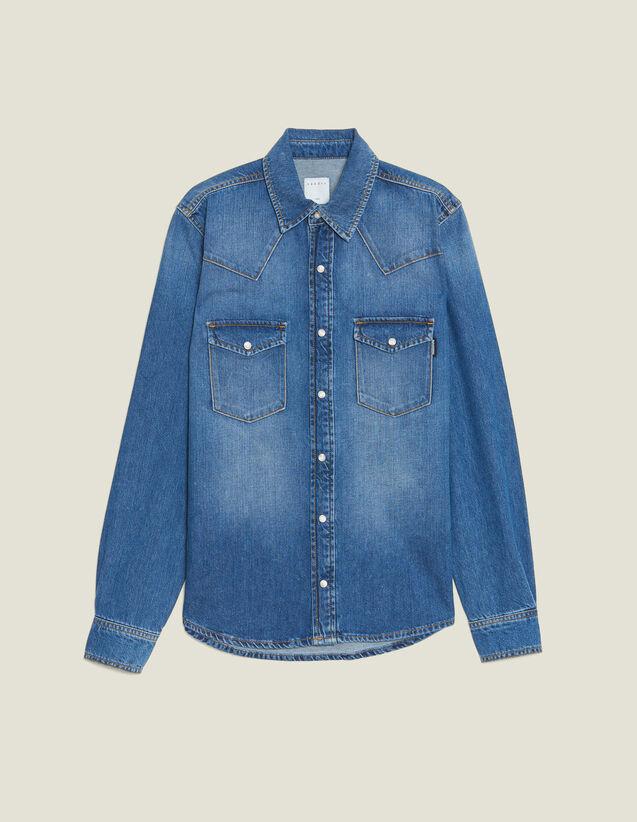 Hemd Aus Verwaschenem Denim : Hemden farbe Blue Vintage - Denim