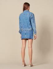 Jeansjacke Mit Nietenverzierung : New In farbe Bleu jean