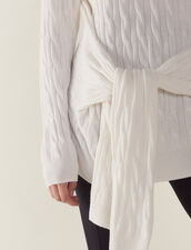 Pullover Aus Zopfmusterstrick : null farbe Ecru