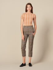 Gerade geschnittene Hose mit Karomuster : FBlackFriday-FR-FSelection-Pantalons&Jeans farbe Bunt