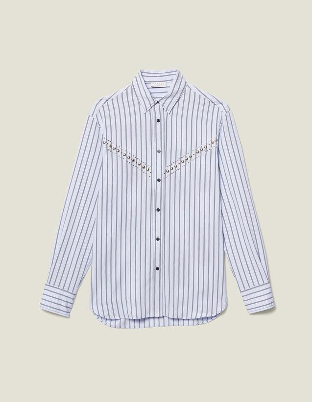 Hemdbluse Aus Gestreiftem Popeline : Tops & Hemden farbe Ciel