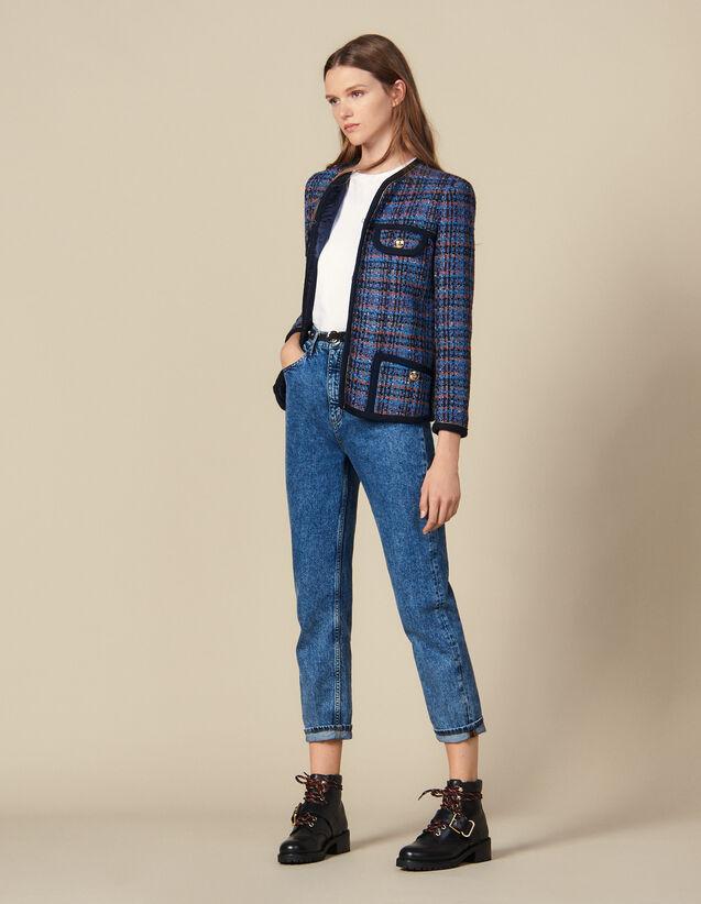 Karierte Tweed-Jacke : Blousons & Jacken farbe Bunt