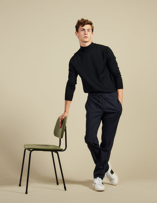 Cityhose Mit Zugband : Hosen & Shorts farbe Schwarz
