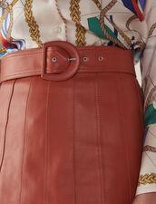 Lederrock Mit Gürtel : Röcke & Shorts farbe Karamell