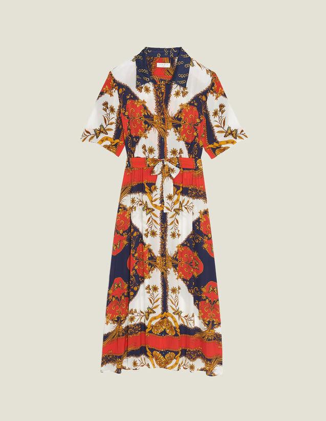 Hemdkleid Mit Halstuch-Print : Kleider farbe Bunt